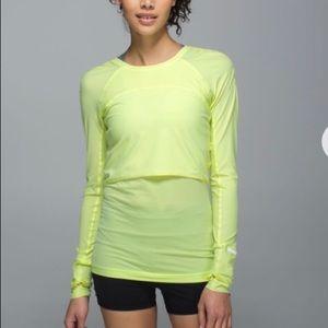 Lululemon Run Sea-Me Run Long Sleeve Size 8 Green